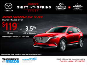 Get the new 2018 Mazda CX-9 today!