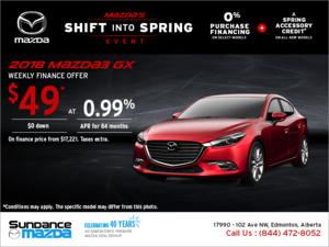 Get the new 2018 Mazda3 today!