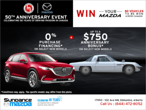 Mazda's 50th anniversary event !