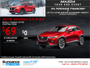 Get the new 2019 Mazda CX-3 today!