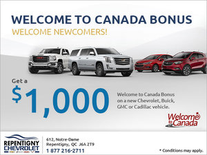 Get Our Welcome to Canada Bonus!
