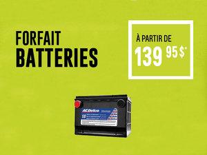 Forfait batteries