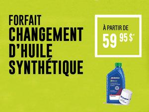 Forfait changement d'huile synthétique