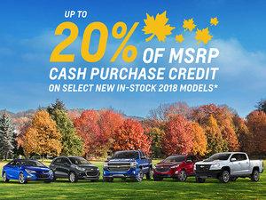 Promotion Chevrolet, October 2018