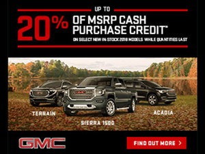 Promotion GMC, October 2018