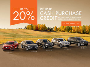 Promotion Buick, October 2018