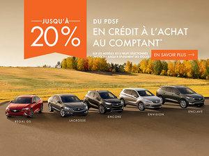 Promotion Buick, Octobre 2018