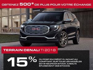 Promotion GMC Terrain, Octobre 2018