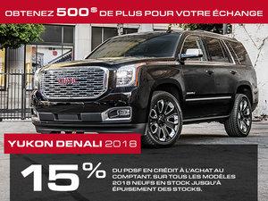 Promotion GMC Yukon XL, Octobre 2018