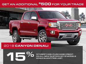 Promotion GMC Canyon, October 2018