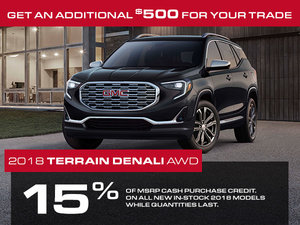 Promotion GMC Terrain, Octobre 2018