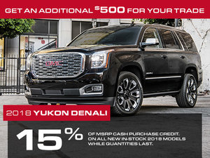 Promotion GMC Yukon XL, October 2018