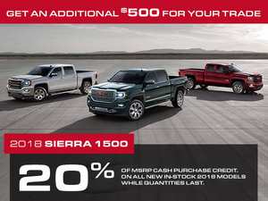 Promotion GMC Sierra 1500, Octobre 2018