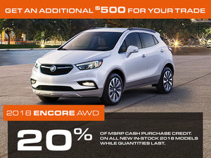 Promotion Buick Encore, October 2018