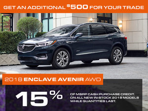 Promotion Buick Enclave, October 2018