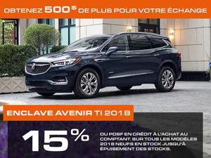 Promotion Buick Enclave, Octobre 2018