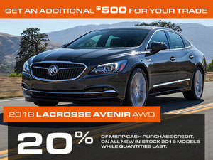 Promotion Buick Lacrosse, October 2018