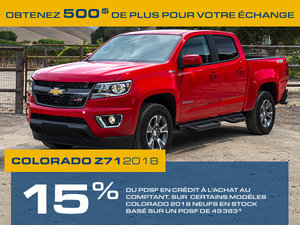 Promotion Chevrolet Colorado, Octobre 2018