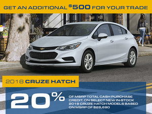 Promotion Chevrolet Cruze hatch, Octobre 2018