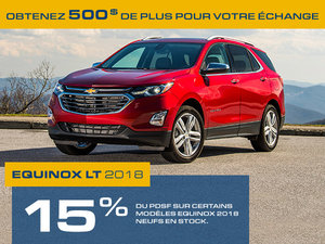 Promotion Chevrolet Equinox, Octobre 2018