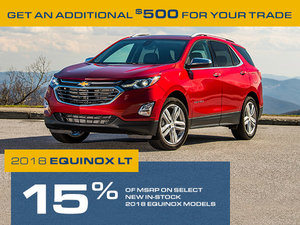 Promotion Chevrolet Equinox, Octobre 2018