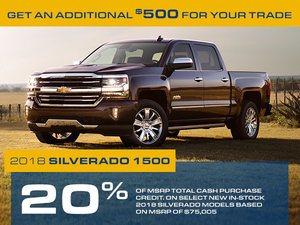 Promotion Chevrolet Silverado, Octobre 2018