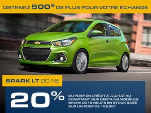 Promotion Chevrolet Spark, Octobre 2018