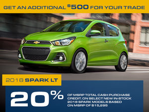 Promotion Chevrolet Spark, Octobre 2018