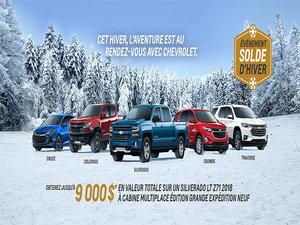 Promotion Chevrolet - Janvier 2019