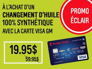 Promotion éclair, Carte Visa GM