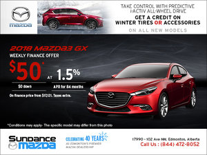 Save on the 2018 Mazda3 Today!
