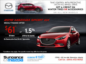Save on the 2018 Mazda3 Sport Today!