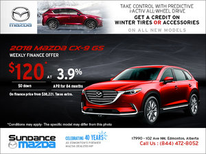 Save on the 2018 Mazda CX-9 Today!
