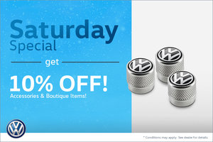 Get 10% Off Select Items on Saturdays Only!