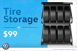 Tire Storage at $99