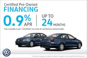 Certified Pre-Owned Financing