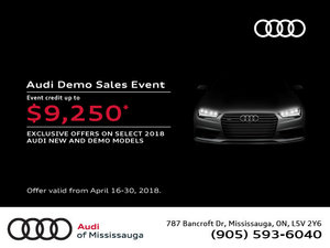 Audi Spring Demo Sales Event
