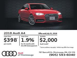 2018 Audi A4 July Offer