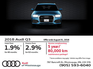 Audi Q3: Summer of Audi Sales Event