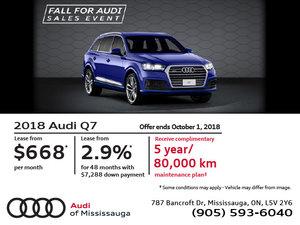 Audi Q7: Fall for Audi Sales Event