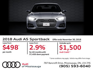 2018 Audi A5 Sportback - November 2018