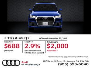 2018 Audi Q7 - November 2018