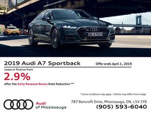2019 Audi A7 Sportback - Early Renewal Bonus