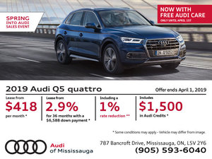 Spring Into Audi Sales Event - 2019 Q5