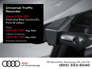 Audi Genuine Universal Traffic Recorder