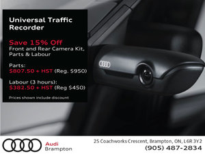 Save 15% Off Our Audi Genuine Universal Traffic Recorder