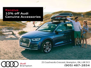 Get 10% Off Audi Genuine Accessories This Month