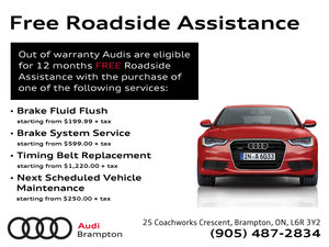 Free Roadside Assistance Offer