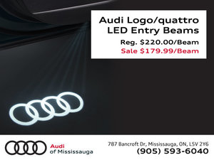 Audi Logo or quattro LED Entry Beam Sale