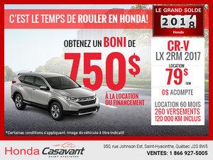 Honda CR-V 2017 en rabais!